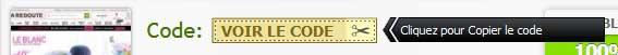 Comment copier un code promos