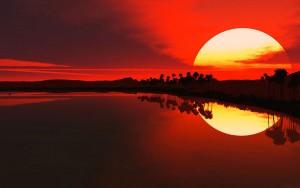 prise photo coucher de soleil avec filtre gradué
