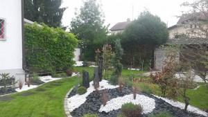 clôture de jardin en palissade